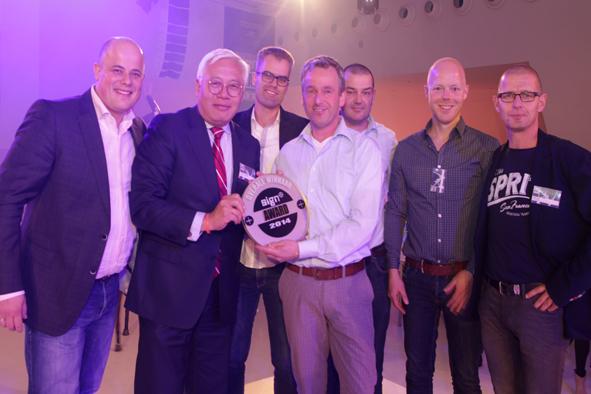 sign award winnaar 2014 klein
