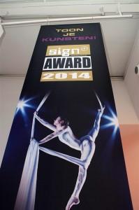 Warm welkom voor de uitreiking van de Sign+ Awards 2014.