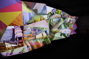 Projectie op 3D-muur