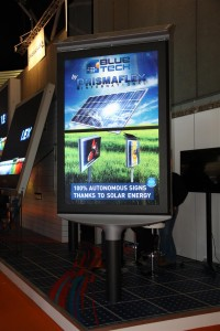 Zuil op zonne-energie