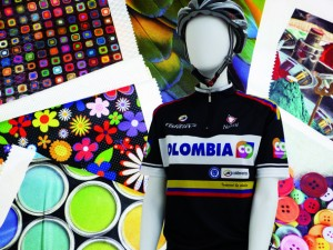 Sports uniforms and tech fabircs printed by digital inks