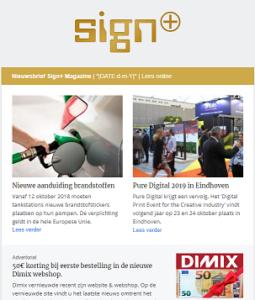 Volg de Signwereld op de voet met de nieuwsbrief van Sign.nl